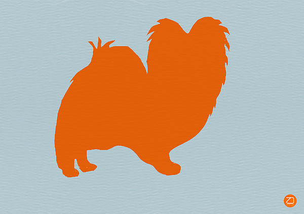 Papillion Orange Print by Naxart Studio