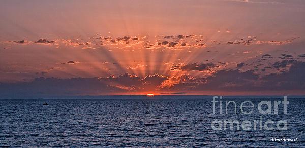 Paradise Sunset Print by Alberto Agrusa