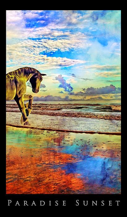Paradise Sunset Print by Betsy C  Knapp