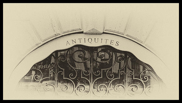Paris Antique Store Sign Print by Tony Grider