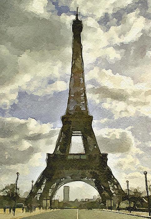 Paris Eiffel Tower 4 Print by Yury Malkov