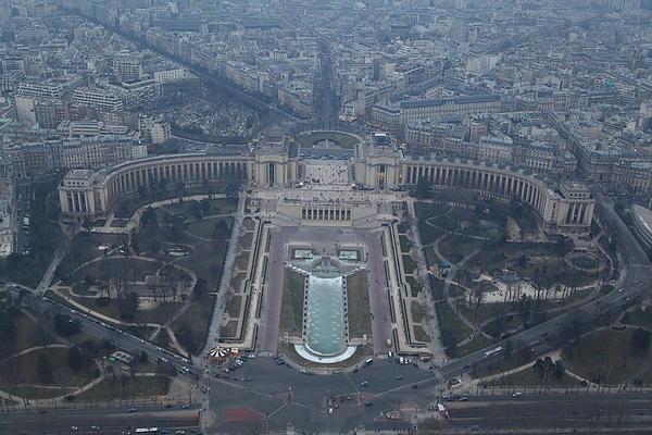 Paris France - Eiffel Tower - 011310 Print by DC Photographer