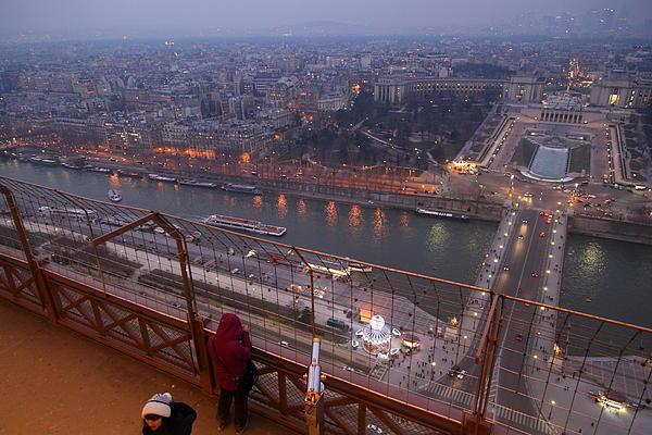 Paris France - Eiffel Tower - 011317 Print by DC Photographer
