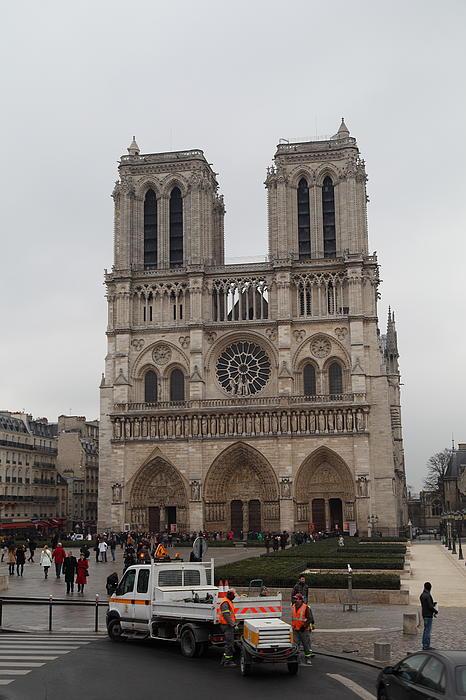 Paris France - Notre Dame De Paris - 011312 Print by DC Photographer