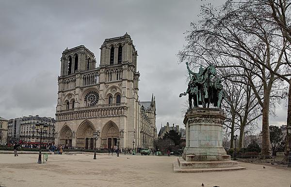 Paris France - Notre Dame De Paris - 011314 Print by DC Photographer