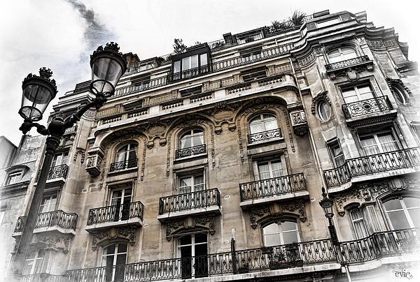 Paris Hotel Print by Evie Carrier
