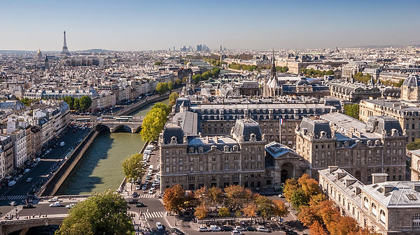 Paris In Autumn Print by Pierre Leclerc Photography