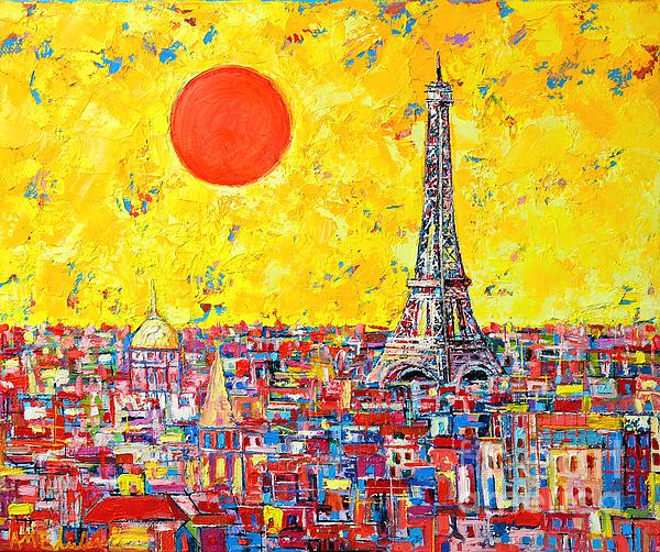 Paris In Sunlight Print by Ana Maria Edulescu