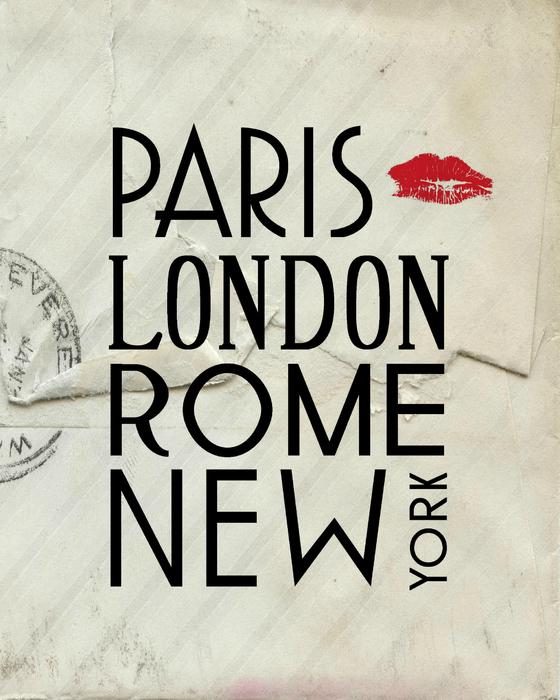 Paris London Rome And New York Print by Jaime Friedman