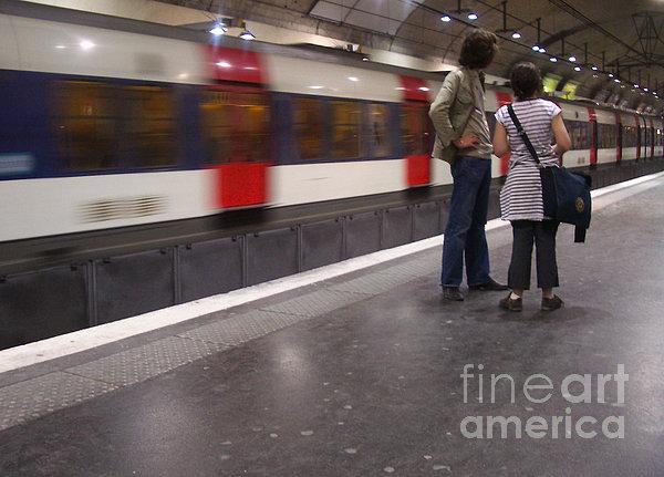 Paris Metro Print by Cynthia Lagoudakis