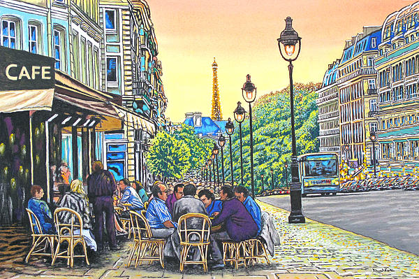 Paris Nights Print by David Linton
