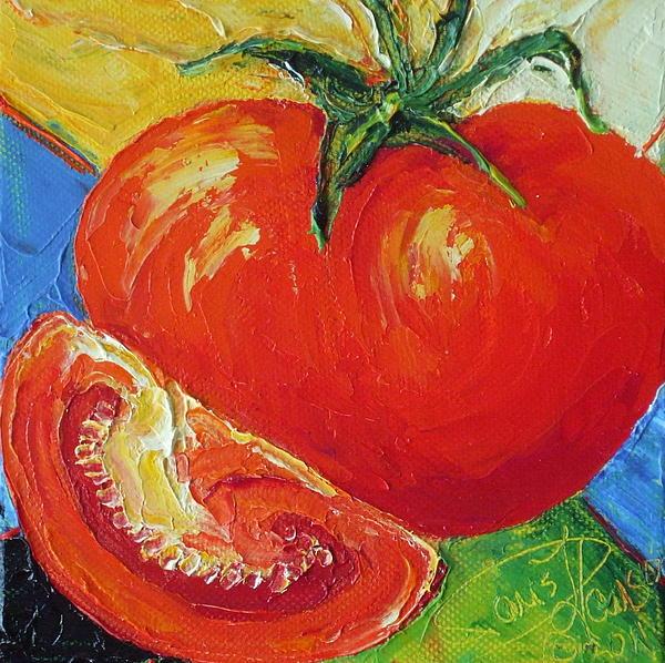 Paris' Red Tomato Print by Paris Wyatt Llanso
