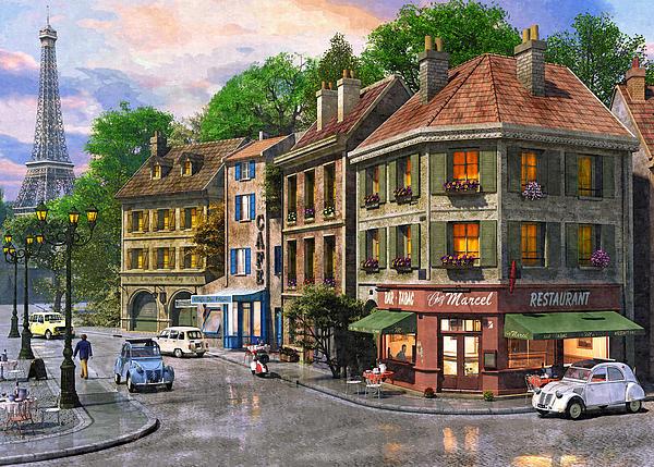 Paris Street Print by Dominic Davison