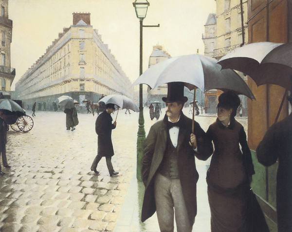 Paris The Place De L'europe On A Rainy Day Print by Gustave Caillebotte