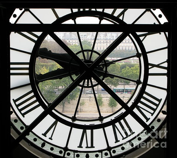 Paris Time Print by Ann Horn