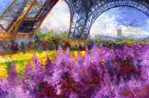 Paris Tour Eiffel 01 Print by Yuriy  Shevchuk