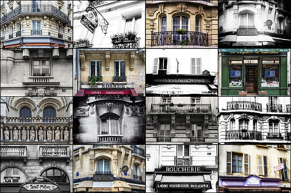 Georgia Fowler - Paris Windows Collage