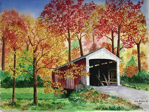 Park County Covered Bridge Print by Anita Riemen