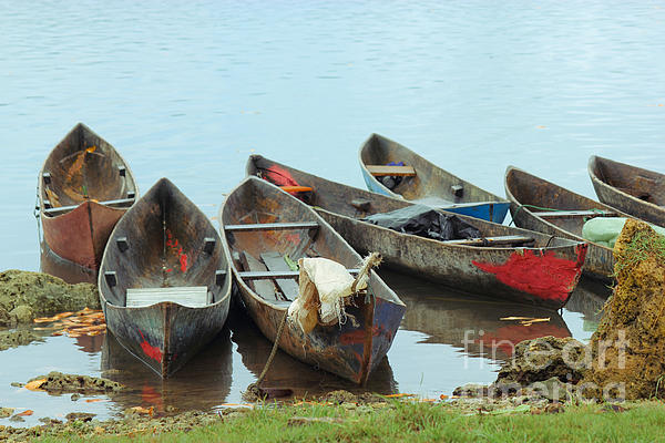 Parking Boats Print by Jola Martysz