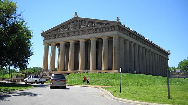 Parthenon In Nashville Print by Paula Talbert