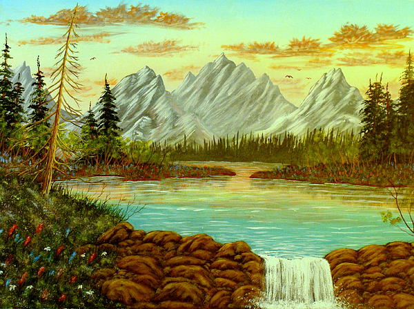 Parting Waters Print by David Bentley
