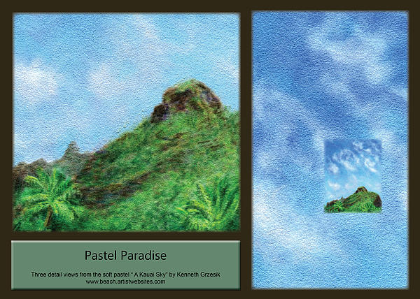 Pastel Paradise Print by Kenneth Grzesik
