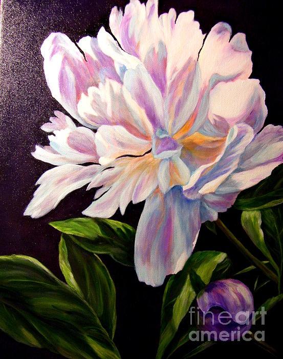 Pastel Peony Print by Anne Barberi