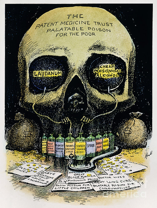 Patent Medicine Cartoon Print by Granger