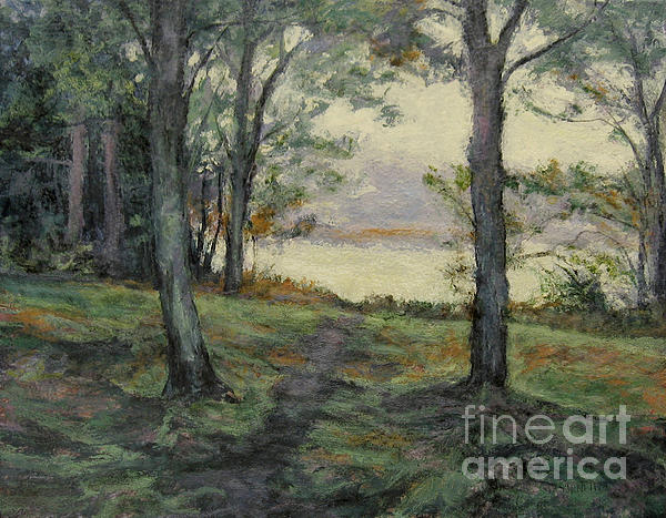 Path To The Pond / Early Morning Print by Gregory Arnett