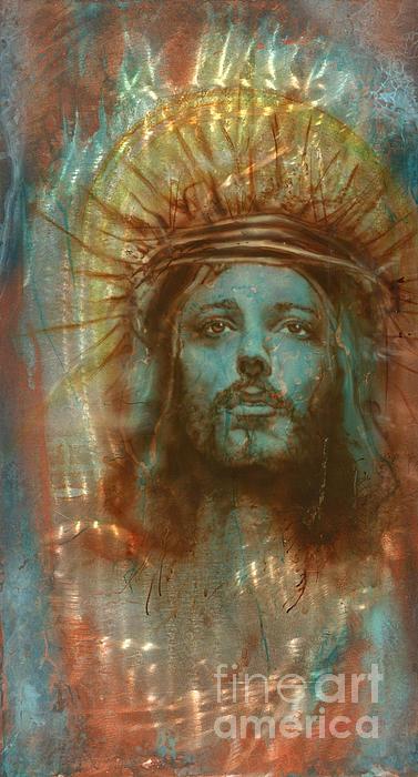 Patina Christ Print by Luis  Navarro