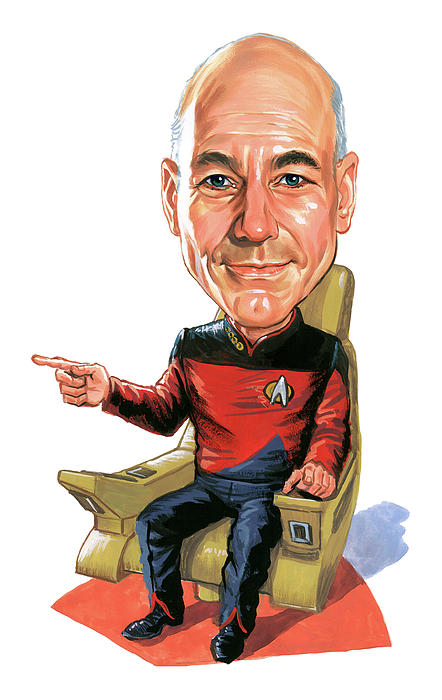 Patrick Stewart As Jean-luc Picard Print by Art