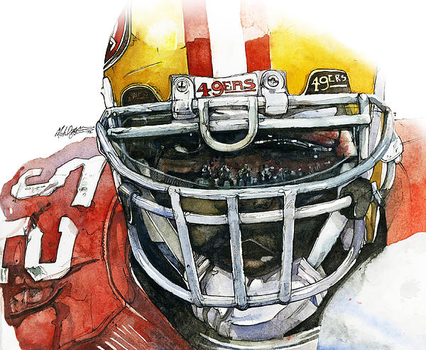 Patrick Willis - Force Print by Michael  Pattison