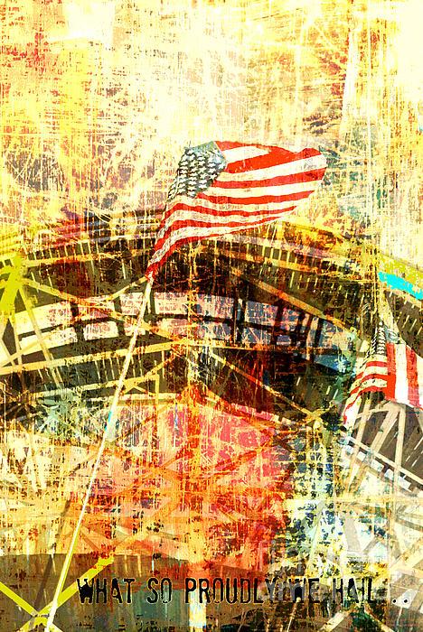 Patriotic Roller Coaster Print by Anahi DeCanio
