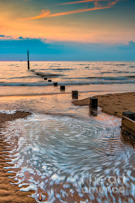 Patterns On The Beach Print by Adrian Evans