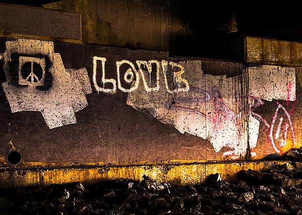 Peace And Love Under The Bridge Print by Bob Orsillo