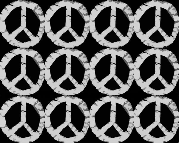 Peace In Black And White Print by Michelle Calkins