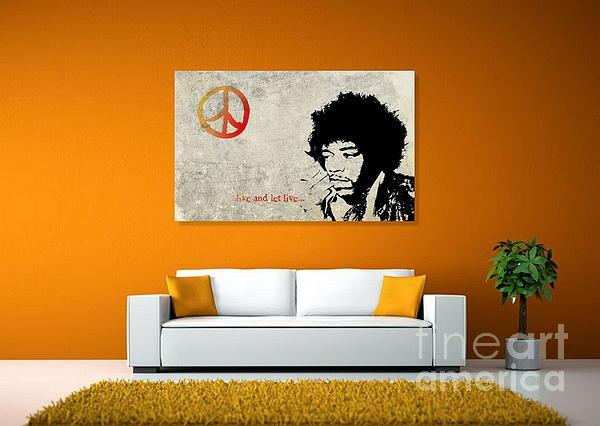 Peace Man Print by Andrea Kollo