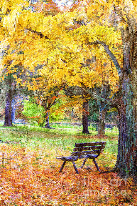 Peaceful Autumn Print by Darren Fisher