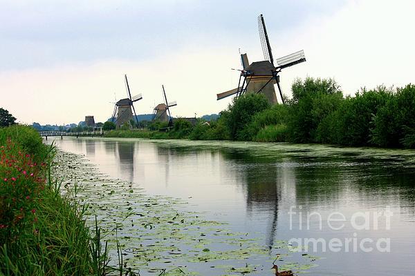 Peaceful Dutch Canal Print by Carol Groenen