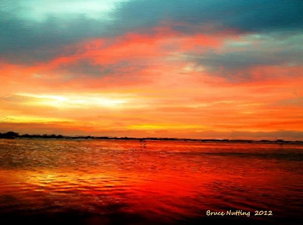 Bruce Nutting - Peaceful Lake Sunset