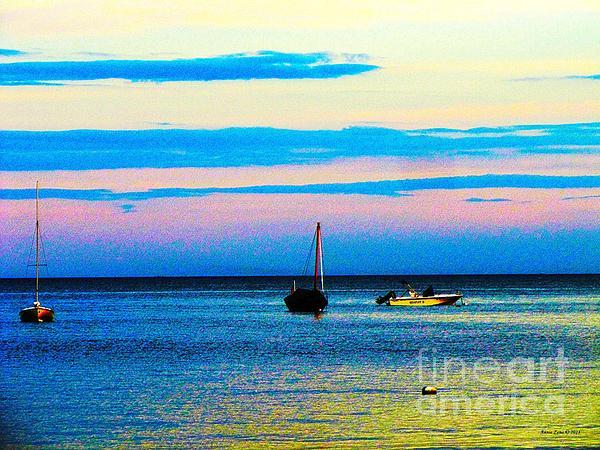 Peaceful Ocean Evening Print by Annie Zeno