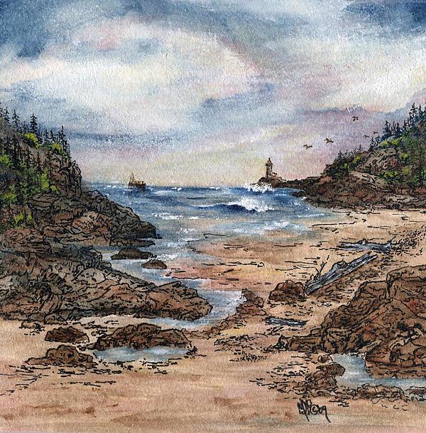 Peaceful Ocean Print by Meldra Driscoll