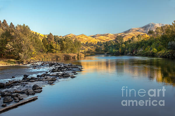 Peaceful River Print by Robert Bales