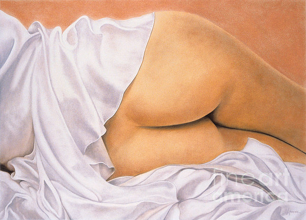 Peachass Print by Lawrence Supino
