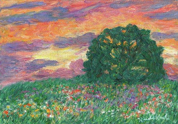 Peachy Sunset Print by Kendall Kessler