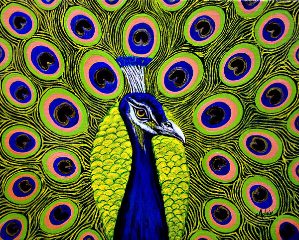 Peacock Mistique Print by Adele Moscaritolo