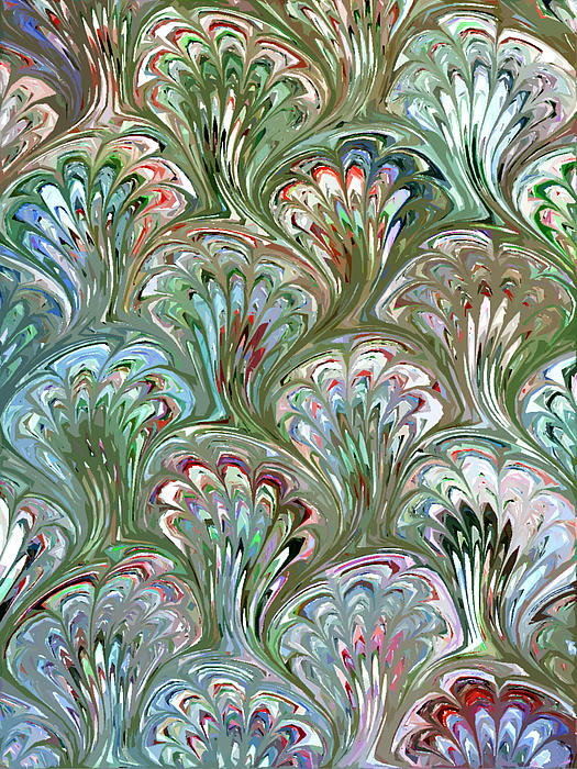Peacock Shell Pattern Abstract Print by Karon Melillo DeVega