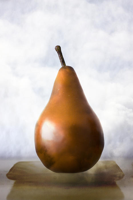 Pear In The Clouds Print by Carol Leigh