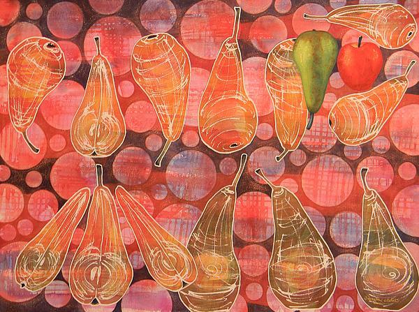 Pear Sphere Print by Adel Nemeth