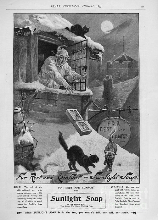Pears  1899 1890s Uk Cc Sunlight Winter Print by The Advertising Archives